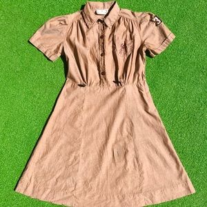 Vintage 1940s Girl Scouts uniform shirt dress xs
